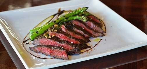 Flank steak and asparagus